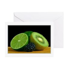 lime & kiwi still life - greeting cards (Pk of 10)