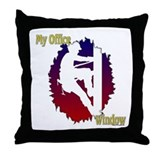 Linemen: My Office Window Throw Pillow