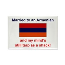Married To Armenian Rectangle Magnet