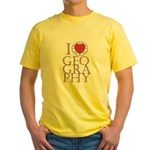I Love Geography Yellow T-Shirt