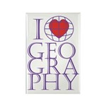 I heart Geography Rectangle Magnet