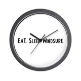 Eat, Sleep, Windsurf Wall Clock