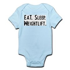 Eat, Sleep, Weightlift Infant Creeper