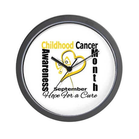 Childhood Cancer Month v2 Wall Clock