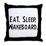 Eat, Sleep, Wakeboard Throw Pillow
