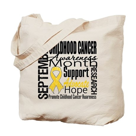 Childhood Cancer Month v4 Tote Bag