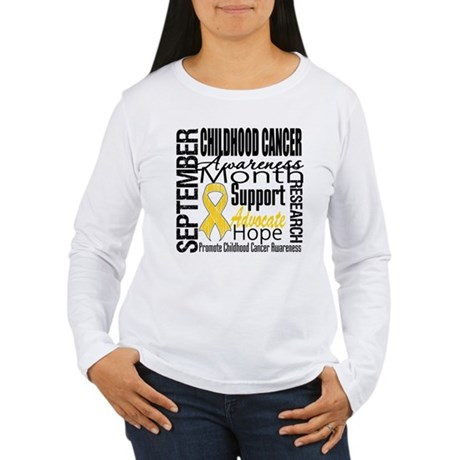 Childhood Cancer Month v4 Women's Long Sleeve T-Sh