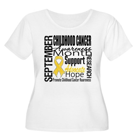 Childhood Cancer Month v4 Women's Plus Size Scoop