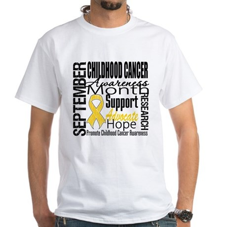 Childhood Cancer Month v4 White T-Shirt