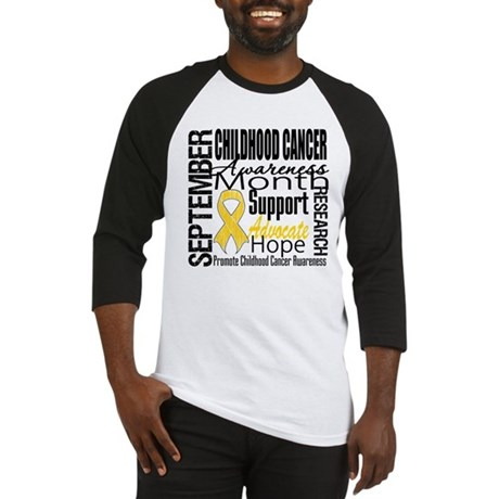Childhood Cancer Month v4 Baseball Jersey