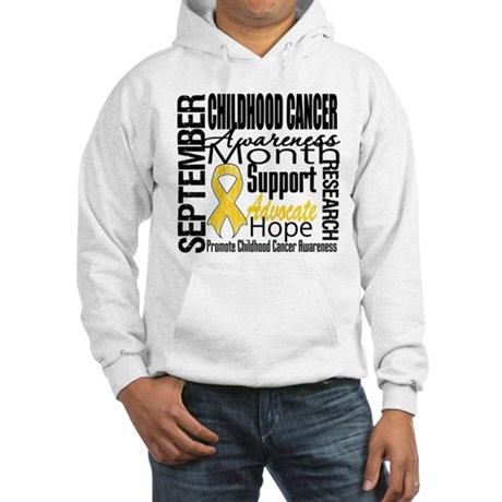 Childhood Cancer Month v4 Hooded Sweatshirt