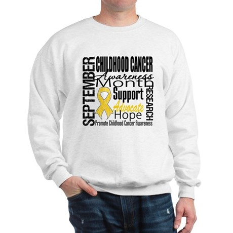 Childhood Cancer Month v4 Sweatshirt