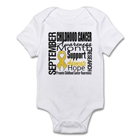 Childhood Cancer Month v4 Infant Bodysuit