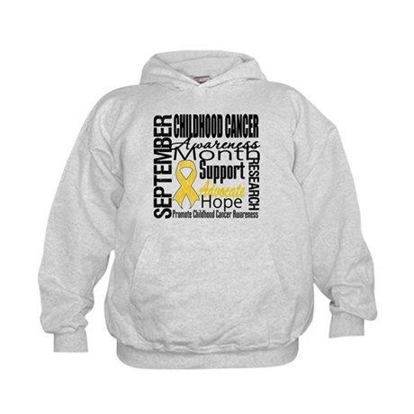 Childhood Cancer Month v4 Kids Hoodie