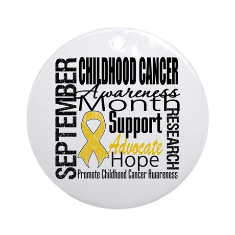 Childhood Cancer Month v4 Ornament (Round)