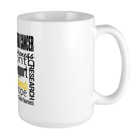 Childhood Cancer Month v4 Large Mug