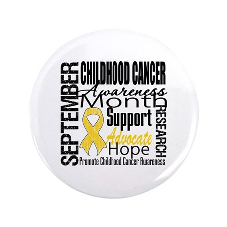 "Childhood Cancer Month v4 3.5"" Button"