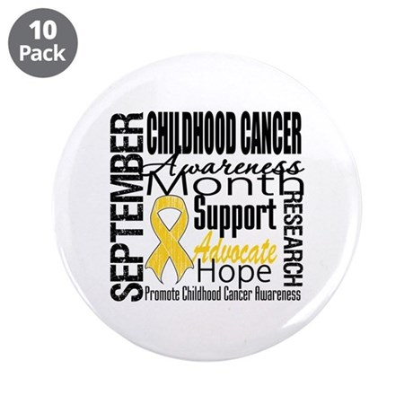 "Childhood Cancer Month v4 3.5"" Button (10 pack)"