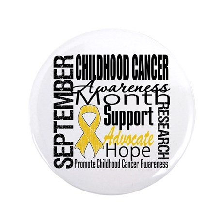 "Childhood Cancer Month v4 3.5"" Button (100 pack)"