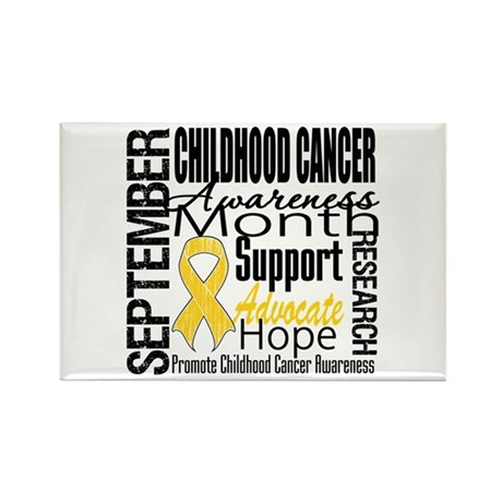 Childhood Cancer Month v4 Rectangle Magnet (100 pa