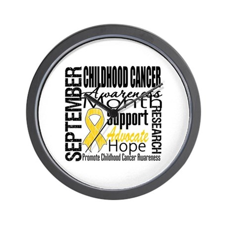 Childhood Cancer Month v4 Wall Clock