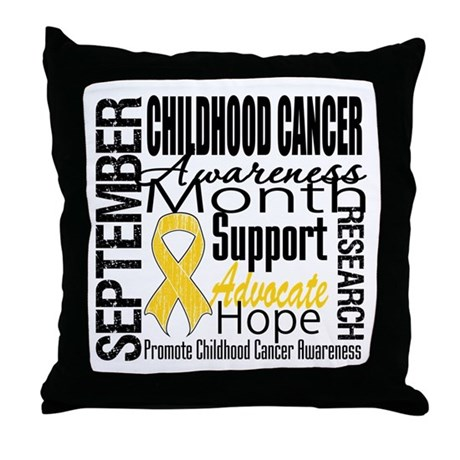 Childhood Cancer Month v4 Throw Pillow