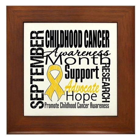 Childhood Cancer Month v4 Framed Tile
