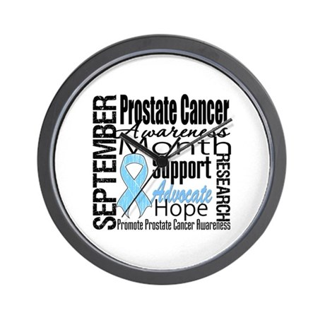 Prostate Cancer Month v4 Wall Clock