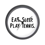 Eat, Sleep, Play Tennis Wall Clock