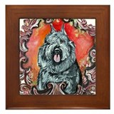 Bouvier Portrait Framed Tile