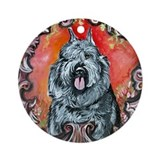 Bouvier Portrait Ornament (Round)