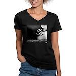 Smoking Hot Cigar Chick Women's V-Neck T-Shirt