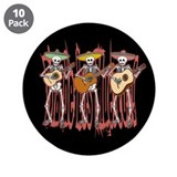 "Mariachi Skeleton Trio 3.5"" Button (10 pack)"