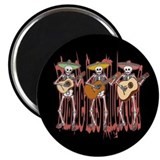 "Mariachi Skeleton Trio 2.25"" Magnet (10 pack)"