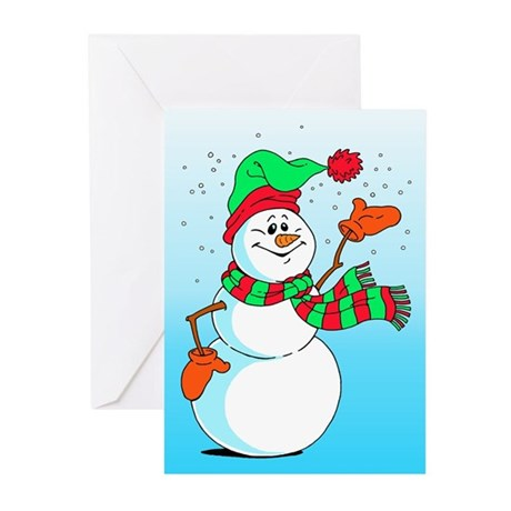 Snowman Merry Christmas Greeting Cards (Pk of 10)