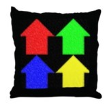 4 simple houses Throw Pillow