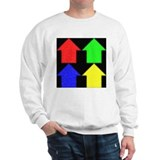 4 simple houses Sweatshirt