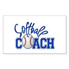 Softball Coach Rectangle Decal
