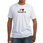 I (heart) Theatre Fitted T-Shirt