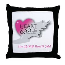 Heart and Sole Throw Pillow