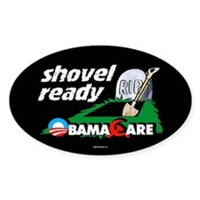 Shovel Ready Oval Decal