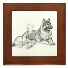 Shiloh and Child Framed Tile
