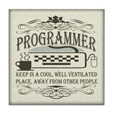Vintage Programmer Tile Coaster