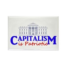 Capitalism is Patriotic Rectangle Magnet (100 pack