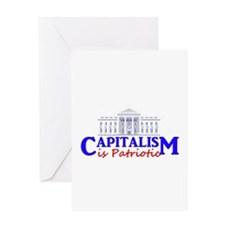 Capitalism is Patriotic Greeting Card