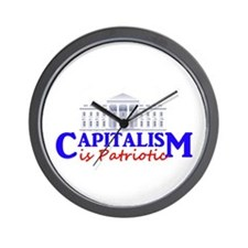 Capitalism is Patriotic Wall Clock