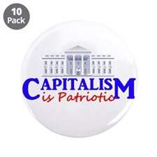 """Capitalism is Patriotic 3.5"""" Button (10 pack)"""