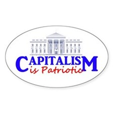 Capitalism is Patriotic Oval Decal