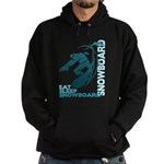 Eat Sleep Snowboard Hoodie (dark)