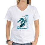 Eat Sleep Snowboard Women's V-Neck T-Shirt